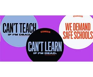 Free We Demand Safe Schools Stickers