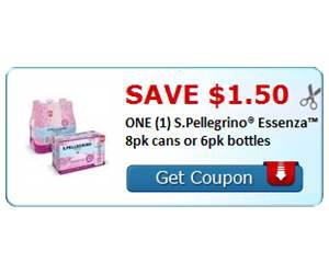 Save $1.50 ONE (1) S.Pellegrino® Essenza™ 8pk cans or 6pk bottles