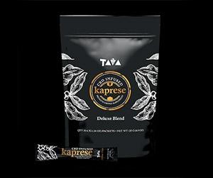 Free Kaprese CBD Coffee Or Vacia Detox Tea x2 Samples