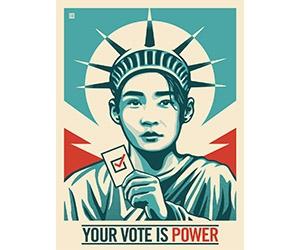 "Free ""Your Vote Is Power"" Sticker"