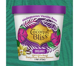 Free Coconut Bliss Organic 100% Plant-Based Ice Cream