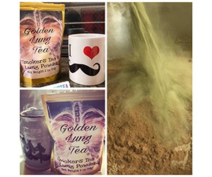 Free Smokers Tea And Lung Powder Sample From Golden Lung Tea