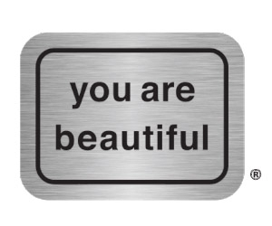 """Free """"You Are Beautiful"""" x5 Stickers"""