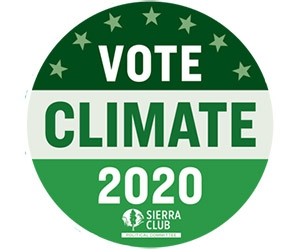 "Free ""Vote Climate 2020"" Sticker"