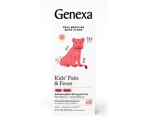Free Genexa Kids Pain & Fever Relief Boottle