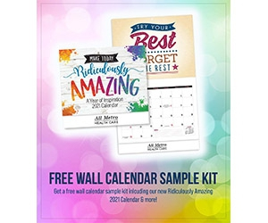 Free 2021 Ridiculously Amazing Wall Calendar Sample Pack