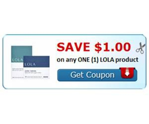 Save $1.00 on any ONE (1) LOLA product
