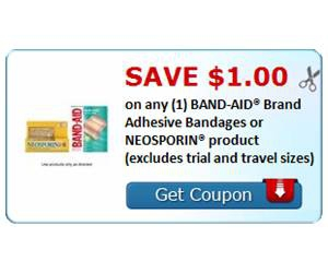 Save $1.00 on any (1) BAND-AID® Brand Adhesive Bandages or NEOSPORIN® product