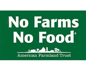 """Free """"No Farms, No Food"""" Sticker"""