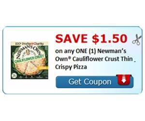 Save $1.50 on any ONE (1) Newman's Own® Cauliflower Crust Thin & Crispy Pizza