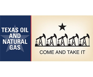 """Free """"Texas Oil And Natural Gas"""" Sticker"""
