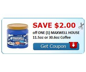 Save $2.00 off ONE (1) MAXWELL HOUSE 11.5oz or 30.6oz Coffee