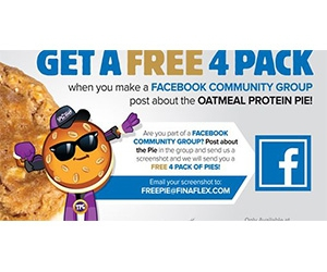 Free 4-Pack Of Oatmeal Protein Pies From FinaFlex