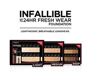 Free Infallible Foundation Sample from L'Oréal Paris