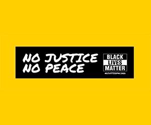 "Free ""No Justice, No Peace"" Sticker"