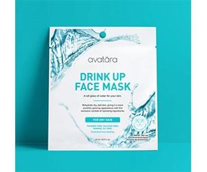 Free Avatara Drink Up Face Mask Sample