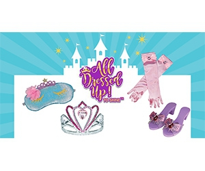 Free All Dressed Up Sleep Mask, Shoes, Gloves And Tiara For Girls