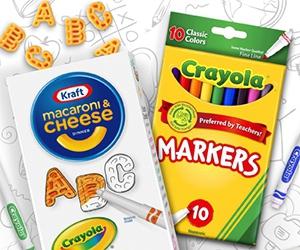 Win Crayola Markers And Kraft Mac & Cheese