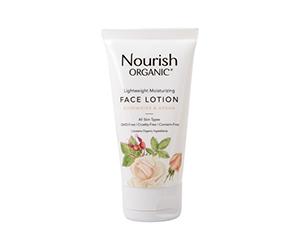Free bottle of Nourish Organic Lightweight Moisturizing Face Cleanser