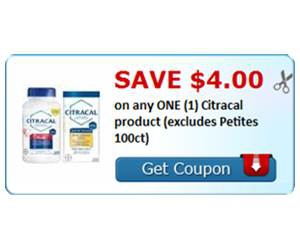 Save $4.00 on any ONE (1) Citracal product