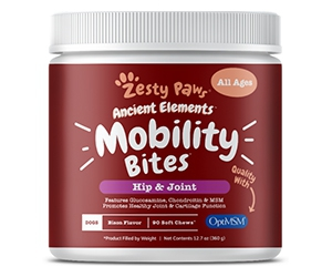 Free Zesty Paws Mobility Bites For Dogs Or Cats