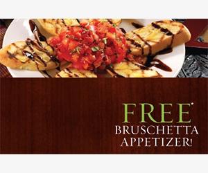 Free Bruschetta Appetizer At Zio's