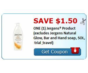 Save $1.50 ONE (1) Jergens® Product