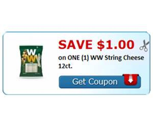 Save $1.00 on ONE (1) WW String Cheese 12ct.
