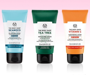 Free Carrot Face Cleanser, Himalayan Charcoal Purifying Mask, Tea Tree Lotion And More From The Body Shop