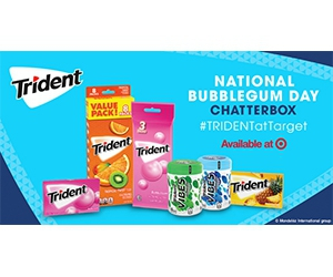 Free Trident Gum and Chew For National Bubblegum Day
