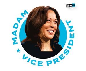 "Free ""Madam Vice President"" Sticker"