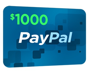 Free $1000 PayPal Gift Card