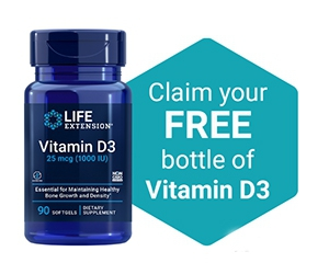 Free Bottle Of Vitamin D3 from Life Extension