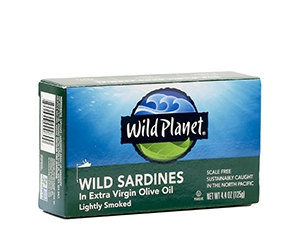 Free Wild Sardines In Extra Virgin Olive Oil From Wild Planet