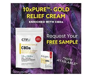 Free Pure Gold CBDa Muscle Cream From CTF