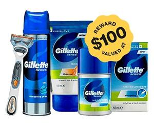Free $100 Gillette Products