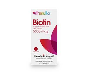 Free bottle of Biotin 5,000mcg