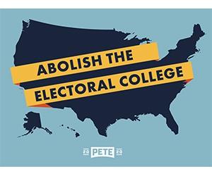 """Free """"Abolish the Electoral College"""" Sticker"""