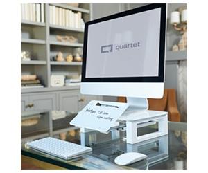 Free Quartet Desktop Glass Monitor Riser