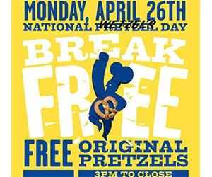 Free Original Pretzels from Wetzel's
