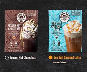 Free Frozen Hot Chocolate or Sea Salt Caramel Latte from Frozen Bean