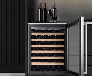Free Hisense 54-Bottle Freestanding Or Built-In Stainless Steel Wine Cooler