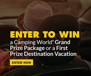 Win A Camper With $1500 Gift Cards Or A Free Stay At Various Resorts
