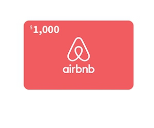 Free $1000 Airbnb Gift Card