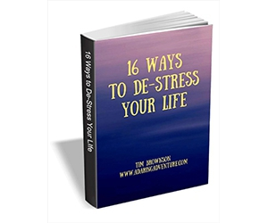 """Free eGuide: """"16 Ways to De-stress Your Life"""""""