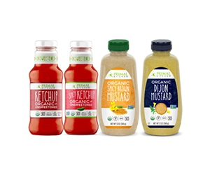 Free bottle of Ketchup and Mustard from Primal Kitchen