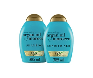 Free OGX Renewing + Argan Oil Of Morocco Shampoo & Conditioner Set