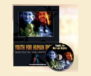 Free Info Kit, DVD, Booklets, Educational Materials From Youth For Human Rights Program
