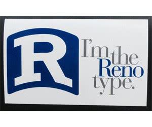 Free Reno Type Bumper Stickers