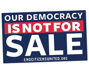 "Free ""Democracy Is Not For Sale"" Sticker"